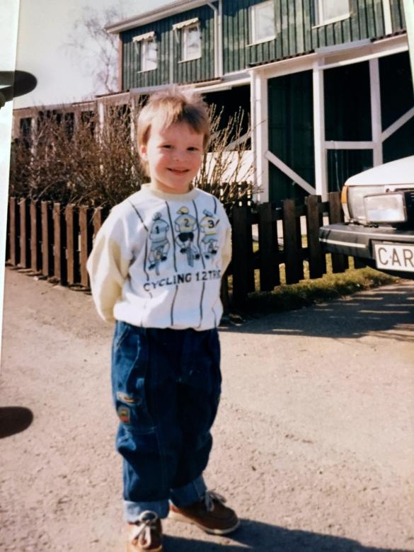 Sen blev jag 4 år och den här fick vara med bara för att jag är ganska jämngammal här med Charlie nu :)